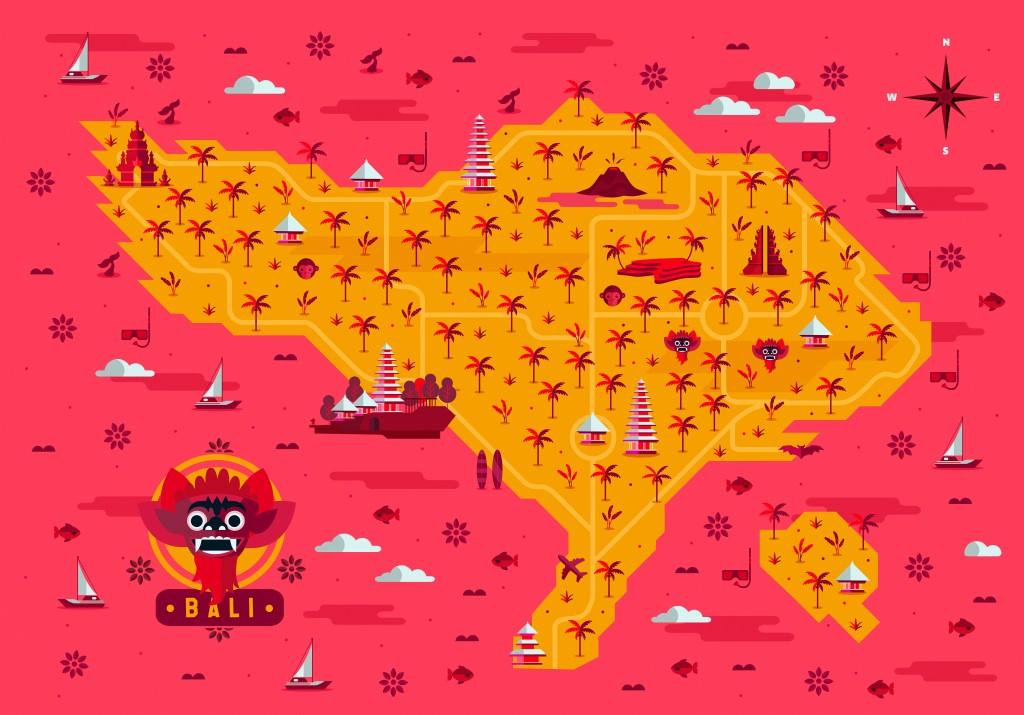 Bali-Map-Hugo Puente rosa