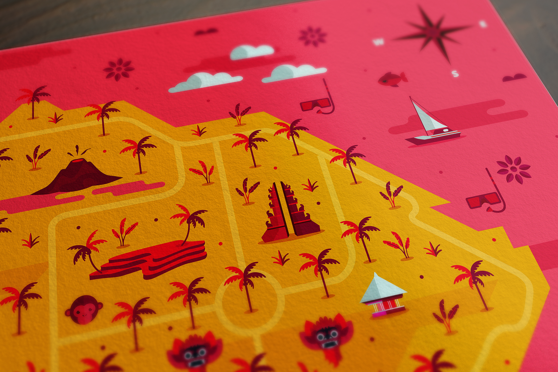Bali-Map-Hugo Puente rosa Detalle