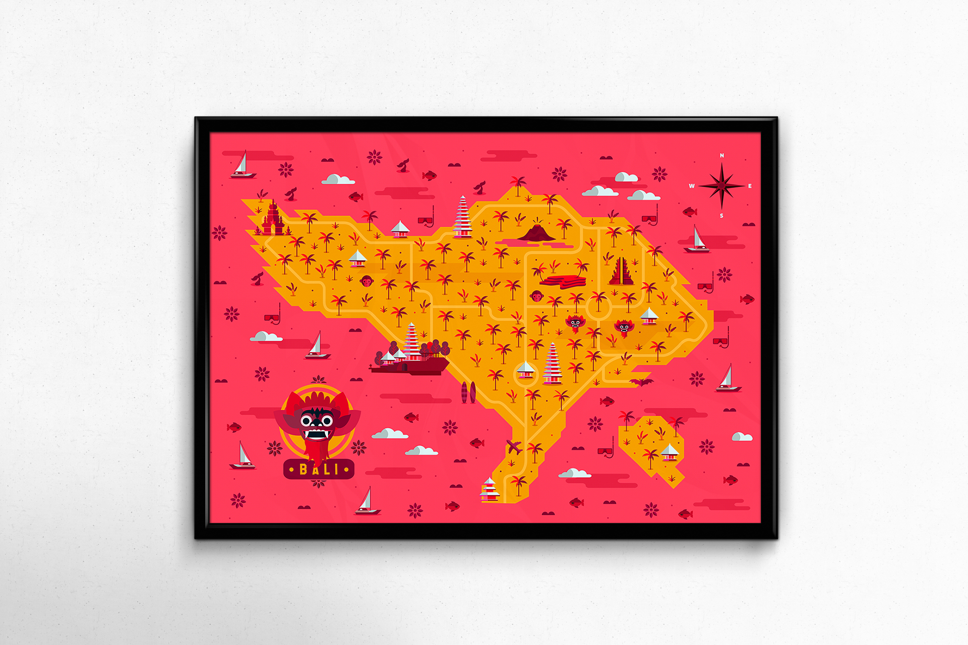 Bali-Map-Hugo Puente roscuadro